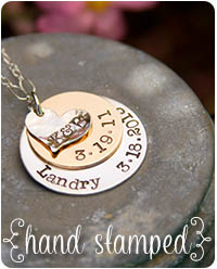 personalized hand-stamped jewelry by jules jewelry.