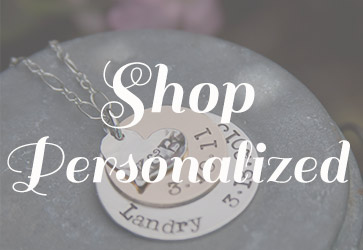 Shop personalized stamped necklaces with Jules Jewelry.