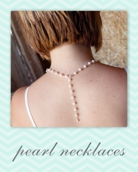 bridal pearl necklace.