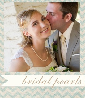 bridal pearls - beautiful wedding pearls for the bride.