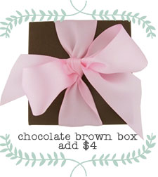 Chocolate Brown Gift Box with Pink Bow for her Jewelry.