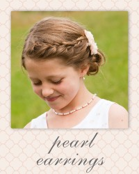 first communion earrings - confirmation jewelry gifts.