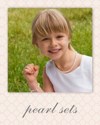 first communion pearl jewelry sets - confirmation gifts.