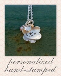 personalized hand-stamped first communion necklaces - confirmation hand-stamped necklace.