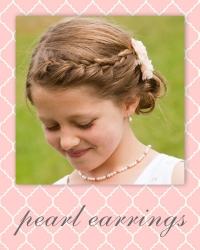 flower girl pearl earrings.