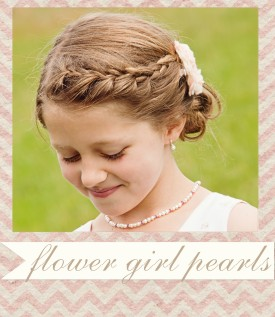 flower girl pearl jewelry gifts.