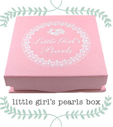 Little Girl's Pearls pink signature jewelry gift box.