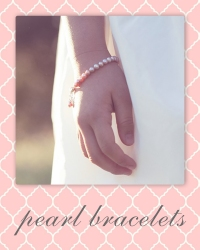 flower girl pearl bracelets.