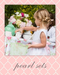 flower girl pearl jewelry sets.