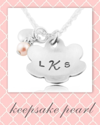 personalized flower girl necklace.