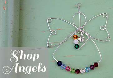 shop for angels and memorial jewelry.