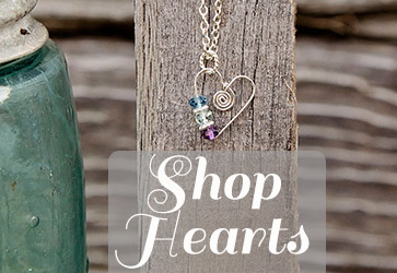 shop for heart jewelry at Jules jewelry.