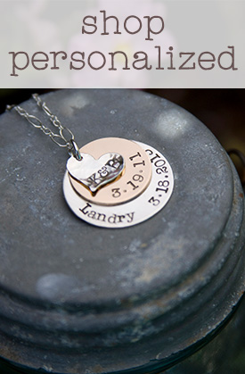 shop for personalized hand-stamped jewelry