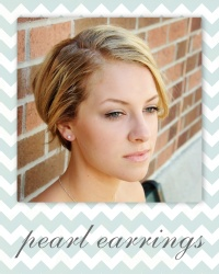 bridesmaid earrings - pearl wedding party jewelry gifts.