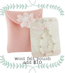 Wool Felt Pouch gift wrapping from Heartfelt Notions.